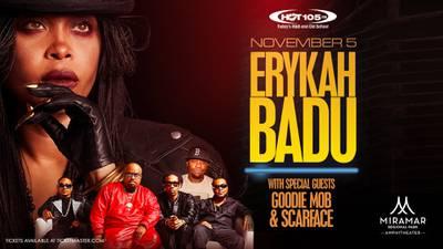 Win tickets to see Erykah Badu!